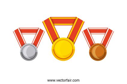 winner medal isolated icon
