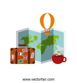 colorful travel icons