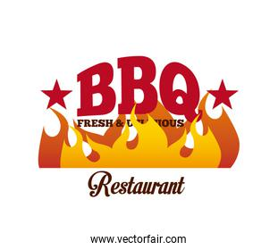 bbq, fresh and delicious design