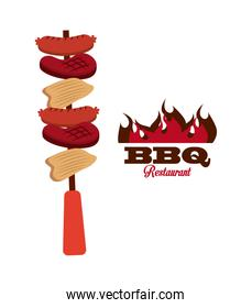 bbq fresh and delicious food design