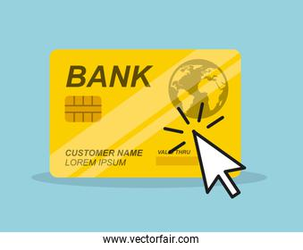 credit card and mouse cursor
