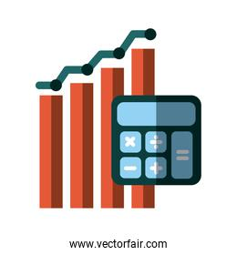 graphic chart and calculator icon