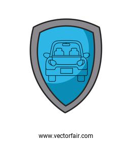 shield with car icon