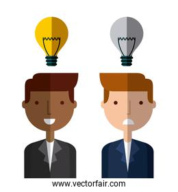 businessman with bulb light icon