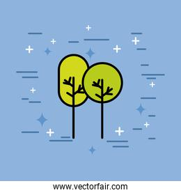 natural trees forest ecology icon