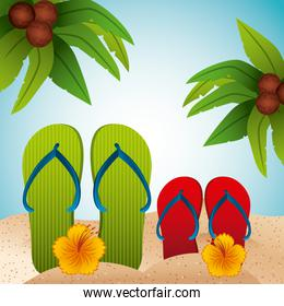 tropical beach vacation image