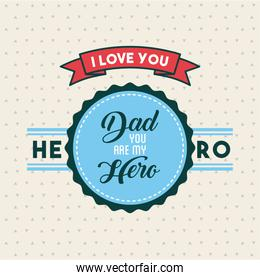 fathers day related icons and lettering image