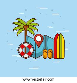 tropical beach and related icons image