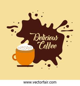 coffee delicious flat illustration