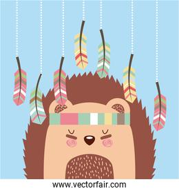 free spirit with cute porcupine
