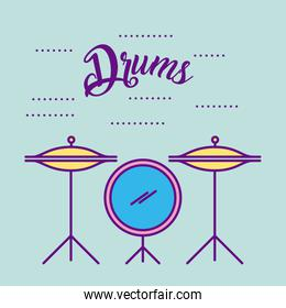 Musical concert drums