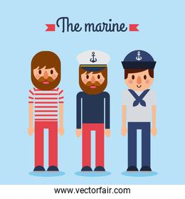 the marine people captain sailor worker character