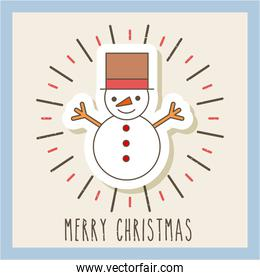 merry christmas snowman celebration image