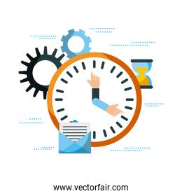 business clock time email work management