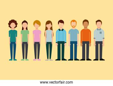 avatar group people man and woman standing image
