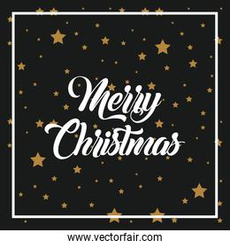 merry christmas lettering decoration card design