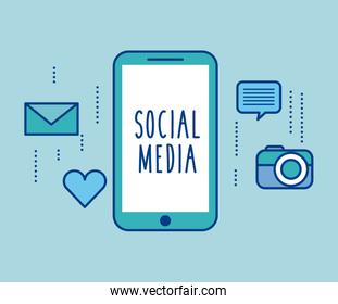 social media smartphone device app icons