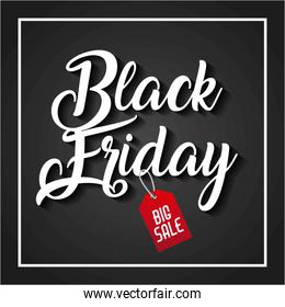 black friday big sale handmade lettering tag price discount