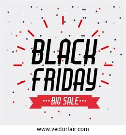 black friday sale banner element season discount