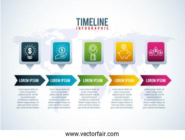 timeline infographic world banking money growth financial