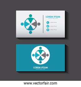 business card set template for identity corporate style