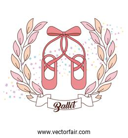 elegant of ballet pink shoes with ribbon