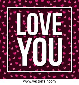 love you card passion feeling heart background
