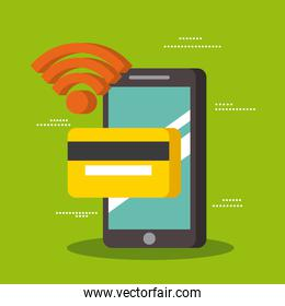 smartphone wifi with credit card payment technology near field communication