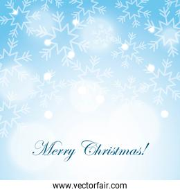merry christmas snow snowflake blurred background