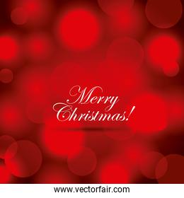merry christmas poster greeting red blurred background