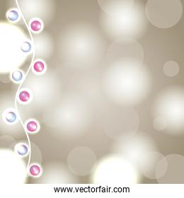 garland lights christmas background blurred abstract