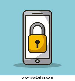 mobile phone and padlock secuirty access data