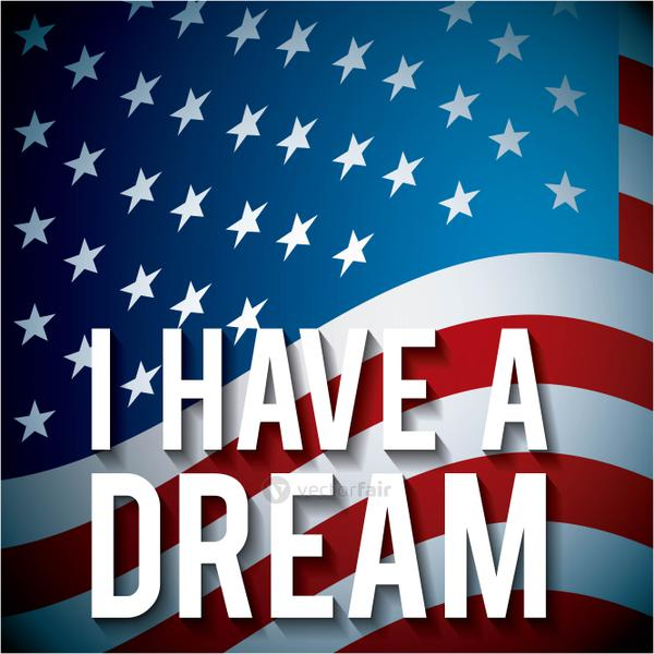 i have a dream with american flag background concept