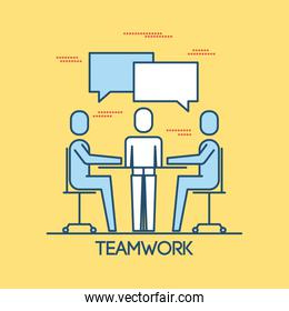 people sitting meeting teamwork group business discussing working