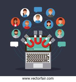 viral content magnetic attraction people communication