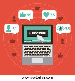 suscribe digital marketing views like comment