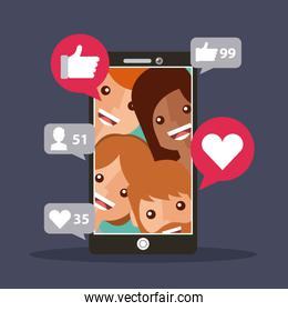 mobile phone followers view likes content
