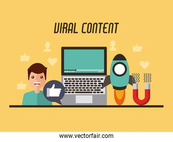 viral content video people start likes concept