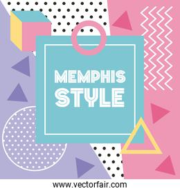 memphis style pattern banner geometric abstract design