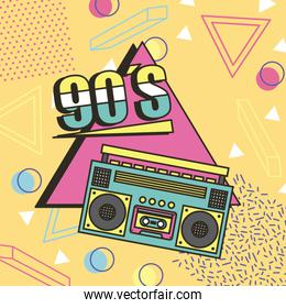 tape recorder 90s music memphis style background