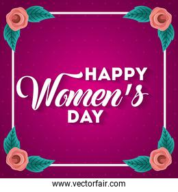 poster international happy womens day 8 march floral greeting card