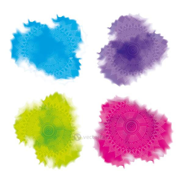 multicolored splash powder abstract decoration