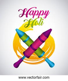 happy holi indian traditional carnival