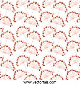 seamless pattern decorative branch with berries