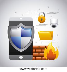 mobile phone protection firewall folder security