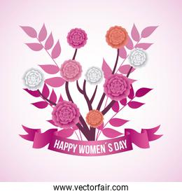 happy womens day floral decoration