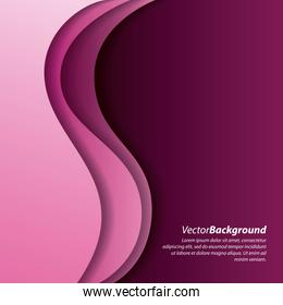 abstract wave pink curve purple background