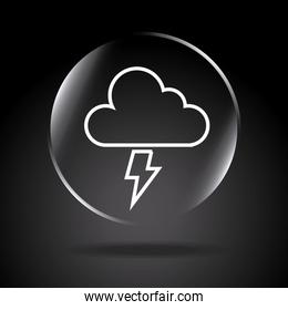 icon storm over black background vector illustration
