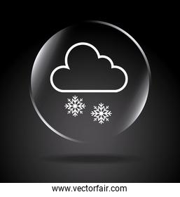 snowing icon over black background vector illustration