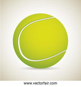 tennis ball over vintage background vector illustration